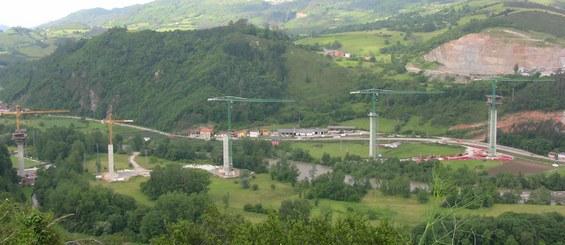 Viaducto de Narcea, Asturias, España