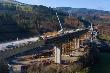 El carácter modular de los encofrados ULMA, clave en el viaducto de Antzuola