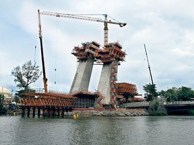 Puente Estaiada, Metro Línea 4, RJ, Brasil
